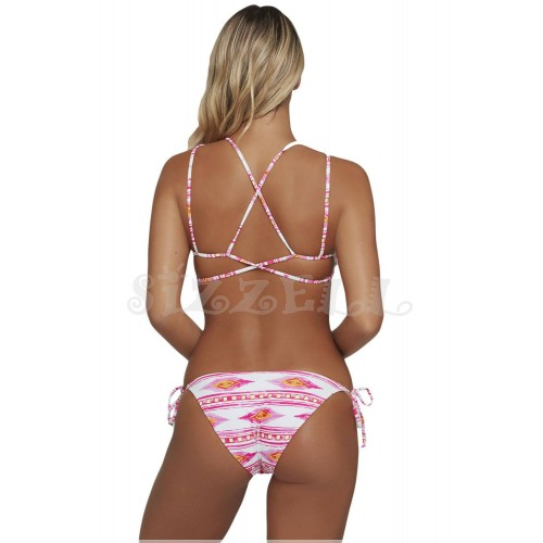 "THE ""LEAH""  GEOMETRIC PRINTED INTRICATE STRAPPY BACK LUXE BIKINI..."