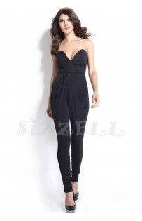 "THE ""ERICA"" DEEP V  STRAPLESS  LUXE JUMPSUIT..."
