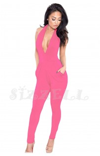 "THE ""JOSE""  LUXE HALTER JUMPSUIT....  PINK MELON..."