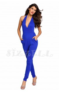 "THE ""JOSE"" LUXE HALTER JUMPSUIT.... ROYAL BLUE..."