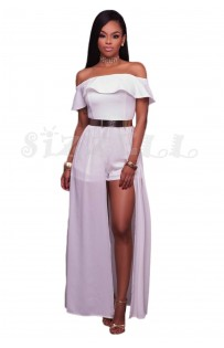 "THE ""JANIE""  OFF SHOULDER LUXE MAXI ROMPER..."