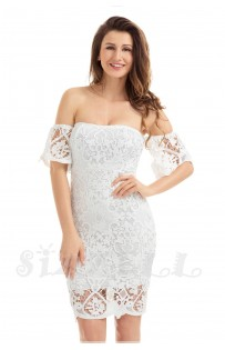 "THE ""JASMINE"" LUXURY CROCHET LACE OFF SHOULDER DRESS...."