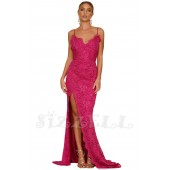 "THE "" CHARLIZE"" LUXURY FLORAL LACE LOW CUT BACK GOWN... RASPBERRY PUNCH ..."
