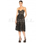 "THE ""AZAELEA"" GUIPORE FLORAL LACE LUXURY MIDI DRESS... BLACK..."