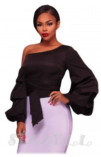 """THE """"LEANNE"""" CHIC LUXE RUFFLE LONG SLEEVE TOP... BLACK..."""
