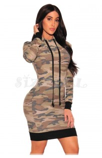 "THE ""GIGI"" CAMO HOODIE DRESS..."