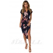 """THE """"LERA"""" NAVY FLORAL LUXE MIDI DRESS... NAVY PINK FLORAL..."""