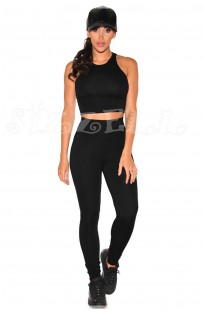 "THE ""EMILEE"" RACERBACK CROP TOP & PANT SET..."
