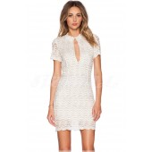 "THE ""GINA"" SCALLOPED LACE DESIGN LUX DRESS..."