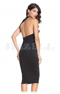 "THE ""DIANNA"" LUXE OPEN BACK CUT OUT MIDI DRESS..."