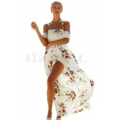 "THE ""LYNN"" BOHO FLORAL OFF SHOULDER LUXE MAXI DRESS... WHITE DREAM..."