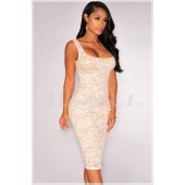 "THE ""WENDY""  NUDE ILLUSION LUXE LACE DRESS..."