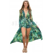 "THE "" OLIVIA"" LUXE EXOTIC PRINT ROMPER MAXI..."