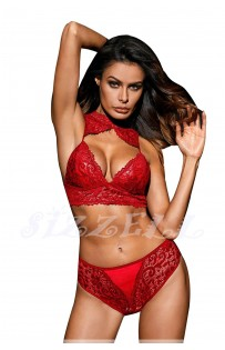 """THE """"LEORNA"""" LUXE LACE BRALETTE SET W/ SEXY CHEEKY BOTTOM... RUBY..."""
