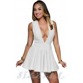 """THE """"TAMMY"""" FIT & FLARE LUX ROMPER... WHITE..."""