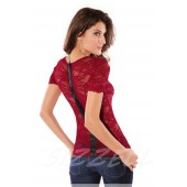 "THE ""REENE"" LACE TOP W/ EXPOSED BACK ZIP ..."