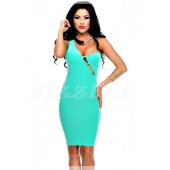 """THE """"DEEDRA"""" ONE SHOULDER W/ CHAIN & CUT-OUT DESIGN BODYCON DRESS.."""