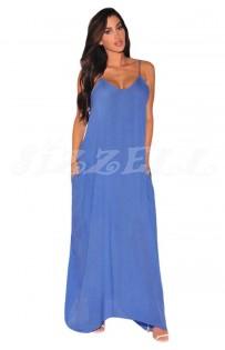 "THE "" LEA"" MAXI DRESS.. SKY BLUE.."