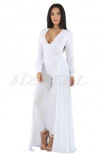 "THE ""AIMARA"" LUXE JUMPSUIT MAXI.... WHITE..."