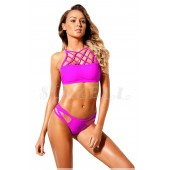 "THE ""FAY"" LATTICE CUT DESIGN THONG LUXE BIKINI SET..."