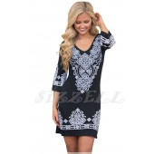"THE ""EDDIE""  RETRO TRIBAL PATTERN DRESS..."