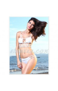 "THE ""CAGE IT"" CAGED OUT BIKINI  WHITE.."