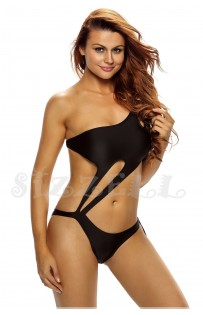 "THE ""BELLA"" ASYMMETRIC ONE SHOULDER CUT OUT ONE PIECE LUXE SWIMSUIT..."