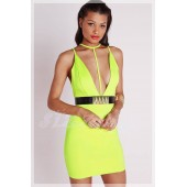 "THE ""CARLI"" T=BAR CHOKER STRAPPY MINI DRESS ..."