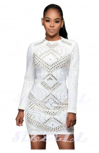 "THE "" LIVVY"" LUXURY JEWELED DRESS... WHITE..."