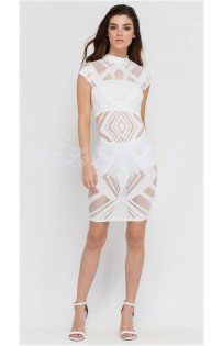 "THE ""NAKED"" LUXE BOLD SEXY BODYCON DRESS... WHITE..."