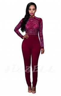 "THE ""CAMILLIA"" SLEEK LUXE BODYCON JUMPSUIT... BERRY"