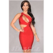 """THE """"GEMMA"""" ONE SHOULDER SEXY CLEAVAGE CUT OUT LUXE BANDAGE DRESS..."""
