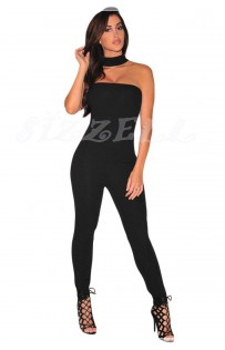 "THE ""KAREN"" CHOKER BLACK JUMPSUIT..."