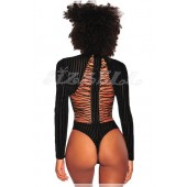 """THE """"LEELEE"""" LUXE RIBBED VELVET LACE-UP BACK THING BODYSUIT..."""