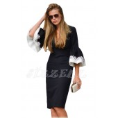 """THE """"SANDY""""  LUXE STATEMENT BELL SLEEVE DRESS..."""