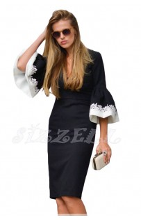 "THE ""SANDY""  LUXE STATEMENT BELL SLEEVE DRESS..."