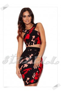 "THE "" SCARLETT"" 2 PIECE BANDAGE SKIRT SET..."