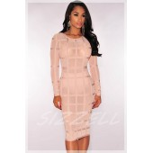 "THE ""CAGED"" BANDAGE DRESS : 3 COLORS !!"